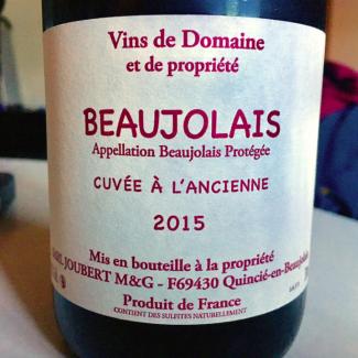 Beaujolais Cuvée à l'Ancienne - Domaine Joubert