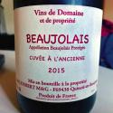 Beaujolais Cuvée à l'Ancienne 2015