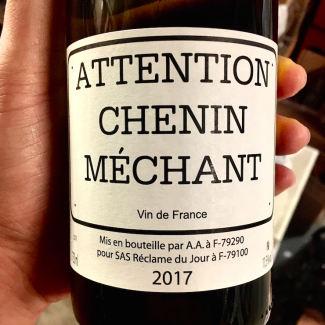 Attention Chenin Méchant 2017 - Nicolas Reau